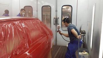 Pintando coche